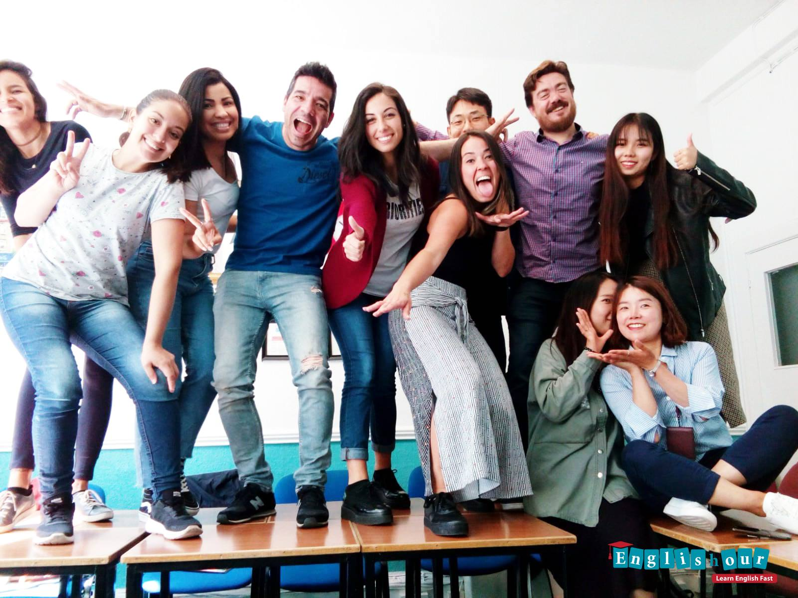Students Studying English Dublin in Englishour